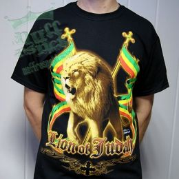 Tričko Lion of Judah full rasta