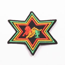 Nášivka Lion of Judah - rasta star