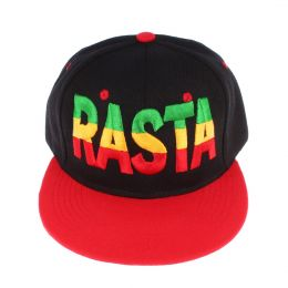 Snapback RASTA | Black & Red