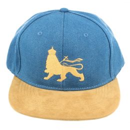 Snapback Lion of Judah |  Blue & Camel