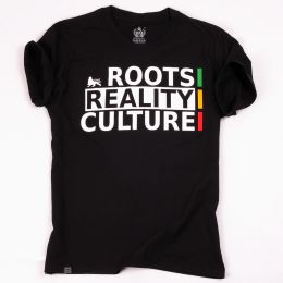 Tričko Roots Reality Culture | černé