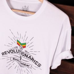 Revolutionaries Roots Soldier tshirt | bílé